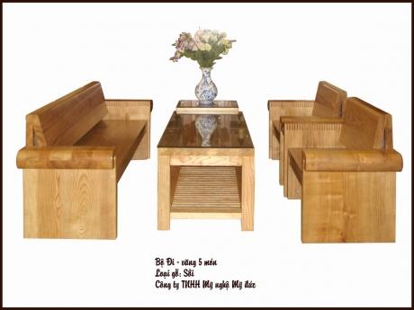 Bộ Đi - văng gỗ đặc - 5 món