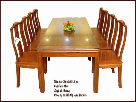 Bàn ăn chữ nhật - ghế ăn Mai
