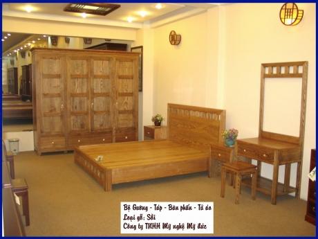Bộ giường - Táp - Bàn Phấn - Tủ áo