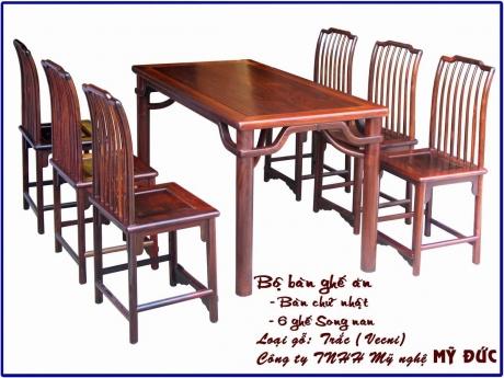 Bộ bàn ghế ăn - hình chữ nhật