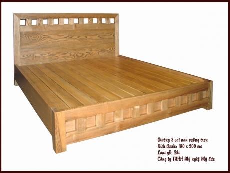 Giường ngủ 3 vai ô nan vuông