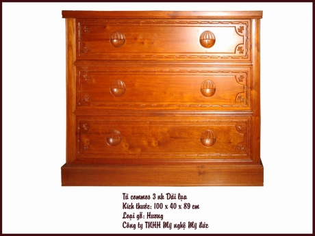 Tủ 3 ngăn kéo Dải lụa