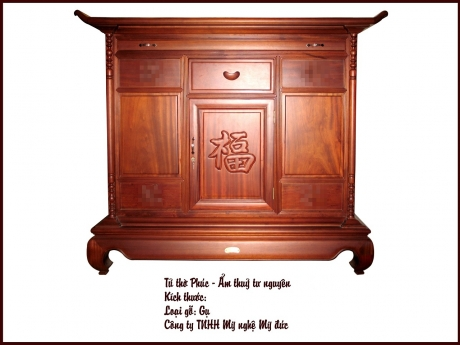 Tủ thờ chữ Phúc - Ẩm Thủy Tư Nguyên